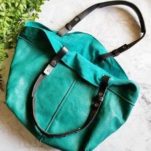 Anthropologie | Holding Horses Teal Hobo Bag